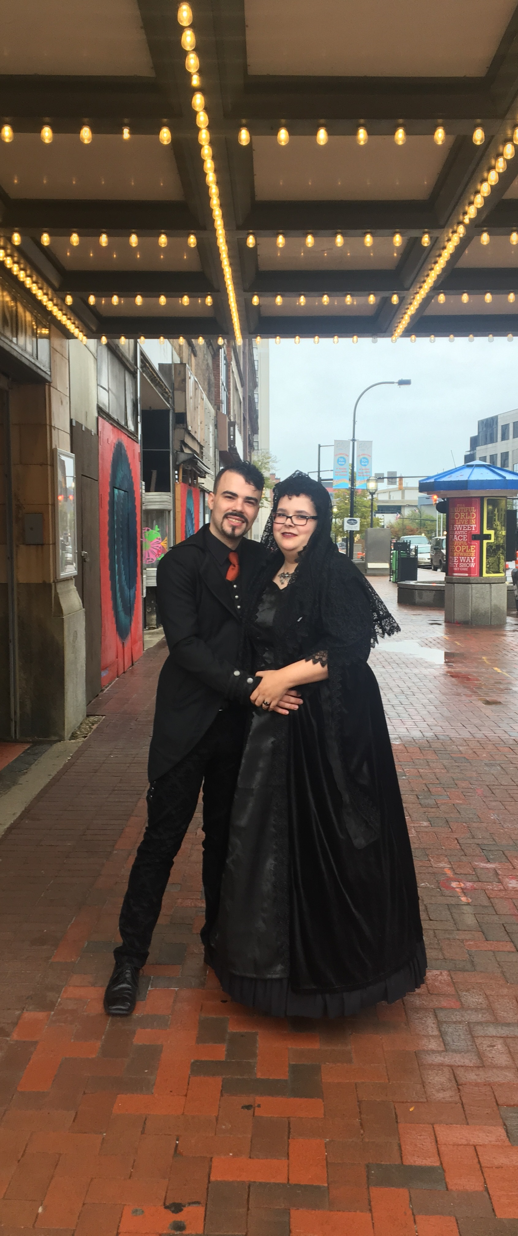 Mr. Josh Brown and Mrs. Anita James were married on Halloween in 2018 at the Akron Civic Theatre