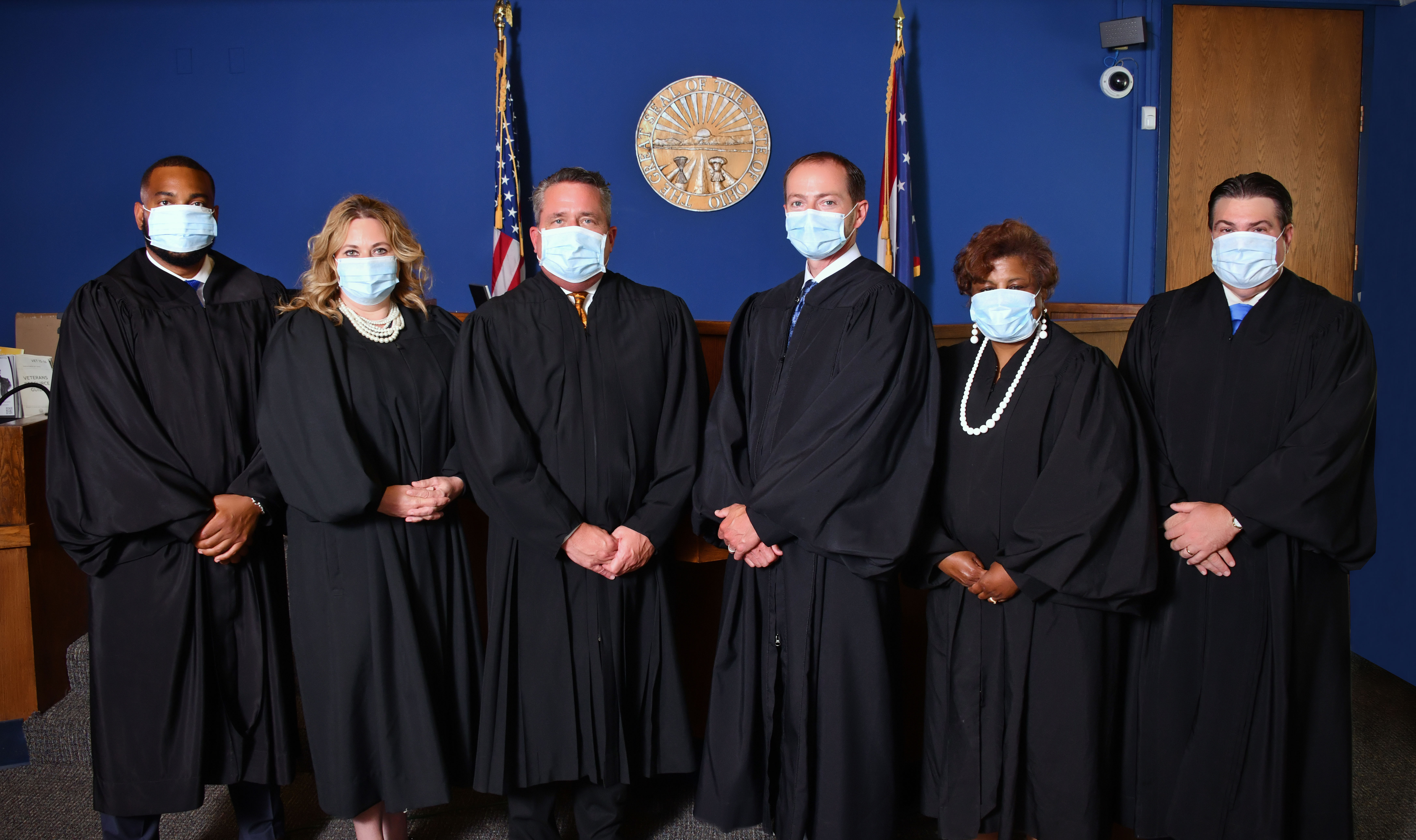 Akron Municipal Court Judges with Masks